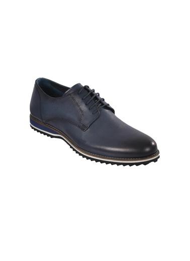 Luciano Bellini E404 Siyah Erkek Günlük Hakiki Deri Ayakkabı Lacivert